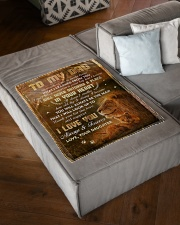 """To Dad - Thank You For The Love - Small Fleece Blanket - 30"""" x 40"""" aos-coral-fleece-blanket-30x40-lifestyle-front-03"""