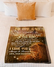 """To Dad - Thank You For The Love - Small Fleece Blanket - 30"""" x 40"""" aos-coral-fleece-blanket-30x40-lifestyle-front-04"""