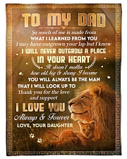"""To Dad - Thank You For The Love - Small Fleece Blanket - 30"""" x 40"""" front"""