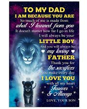To Dad - I Love You 11x17 Poster front