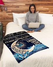 """To Daughter - Believe In Yourself Small Fleece Blanket - 30"""" x 40"""" aos-coral-fleece-blanket-30x40-lifestyle-front-08"""