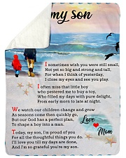 "To Son - I'm Proud Of You - Large Sherpa Fleece Blanket - 60"" x 80"" thumbnail"