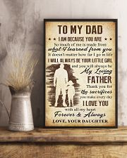 To Dad - The Sacrifies You Make 11x17 Poster lifestyle-poster-3
