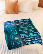 "To Dad - I Am Because You Are - Small Fleece Blanket - 30"" x 40"" aos-coral-fleece-blanket-30x40-lifestyle-front-01"