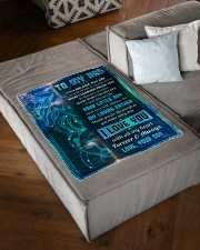 """To Dad - I Am Because You Are - Small Fleece Blanket - 30"""" x 40"""" aos-coral-fleece-blanket-30x40-lifestyle-front-03"""