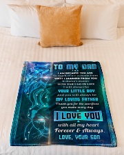 "To Dad - I Am Because You Are - Small Fleece Blanket - 30"" x 40"" aos-coral-fleece-blanket-30x40-lifestyle-front-04"