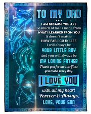 "To Dad - I Am Because You Are - Small Fleece Blanket - 30"" x 40"" front"