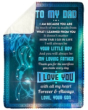 "To Dad - I Am Because You Are - Large Sherpa Fleece Blanket - 60"" x 80"" thumbnail"