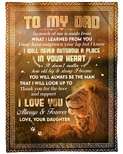 """To Dad - Thank You For The Love - Large Fleece Blanket - 60"""" x 80"""" front"""