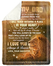 """To Dad - Thank You For The Love - Large Sherpa Fleece Blanket - 60"""" x 80"""" thumbnail"""
