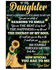 To Daughter - Reasons To Smile - 11x17 Poster front