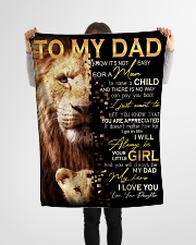 """To Dad - Your Little Girl - Small Fleece Blanket - 30"""" x 40"""" aos-coral-fleece-blanket-30x40-lifestyle-front-14"""