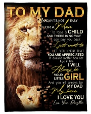 """To Dad - Your Little Girl - Small Fleece Blanket - 30"""" x 40"""" front"""