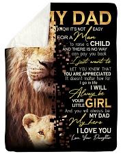 To Dad - Your Little Girl - Sherpa Fleece Blanket tile