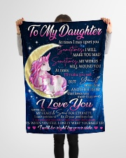 "To Daughter - Wrap Yourself Up - Small Fleece Blanket - 30"" x 40"" aos-coral-fleece-blanket-30x40-lifestyle-front-14"