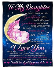"To Daughter - Wrap Yourself Up - Small Fleece Blanket - 30"" x 40"" front"