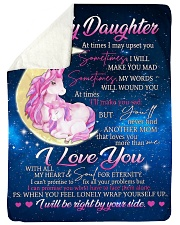 "To Daughter - Wrap Yourself Up - Large Sherpa Fleece Blanket - 60"" x 80"" thumbnail"