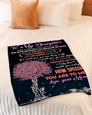 "To Daughter - Through My Eyes - Small Fleece Blanket - 30"" x 40"" aos-coral-fleece-blanket-30x40-lifestyle-front-01"