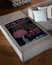 "To Daughter - Through My Eyes - Small Fleece Blanket - 30"" x 40"" aos-coral-fleece-blanket-30x40-lifestyle-front-03"