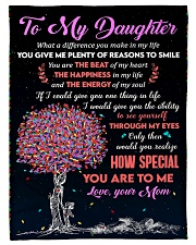 "To Daughter - Through My Eyes - Small Fleece Blanket - 30"" x 40"" front"
