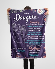 "To Daughter - I Am Your - Small Fleece Blanket - 30"" x 40"" aos-coral-fleece-blanket-30x40-lifestyle-front-14"