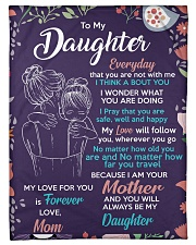 "To Daughter - I Am Your - Small Fleece Blanket - 30"" x 40"" front"