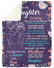 "To Daughter - I Am Your - Large Sherpa Fleece Blanket - 60"" x 80"" thumbnail"
