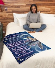 """To Granddaughter - I Believe In You - Small Fleece Blanket - 30"""" x 40"""" aos-coral-fleece-blanket-30x40-lifestyle-front-08"""
