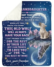 """To Granddaughter - I Believe In You - Large Sherpa Fleece Blanket - 60"""" x 80"""" thumbnail"""
