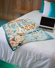 """To Daughter - Stood Against Your Fear - Small Fleece Blanket - 30"""" x 40"""" aos-coral-fleece-blanket-30x40-lifestyle-front-10"""
