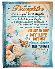 """To Daughter - Stood Against Your Fear - Small Fleece Blanket - 30"""" x 40"""" front"""