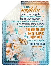 """To Daughter - Stood Against Your Fear - Large Sherpa Fleece Blanket - 60"""" x 80"""" thumbnail"""