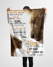 "To Dad - My Hero - Small Fleece Blanket - 30"" x 40"" aos-coral-fleece-blanket-30x40-lifestyle-front-14"