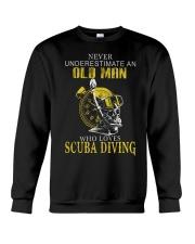 OLD MAN WHO LOVES SCUBA DIVING Crewneck Sweatshirt thumbnail