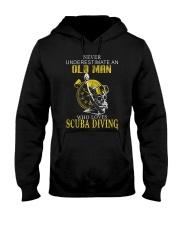 OLD MAN WHO LOVES SCUBA DIVING Hooded Sweatshirt thumbnail
