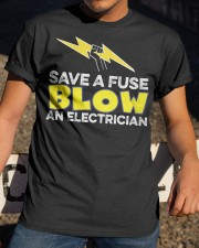 Blown an Electrician Classic T-Shirt apparel-classic-tshirt-lifestyle-28