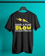 Blown an Electrician Classic T-Shirt lifestyle-mens-crewneck-front-3