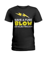 Blown an Electrician Ladies T-Shirt thumbnail