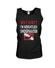 WHY DIET WHEN I LOVE SCUBA DIVING Unisex Tank thumbnail