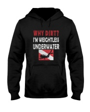 WHY DIET WHEN I LOVE SCUBA DIVING Hooded Sweatshirt thumbnail