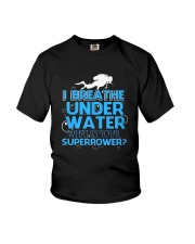 I Breathe Under Water What's- Scuba Diving Youth T-Shirt thumbnail