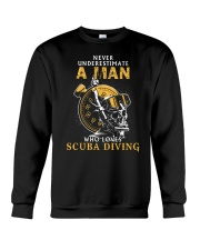 A MAN LOVES SCUBA DIVING Crewneck Sweatshirt thumbnail