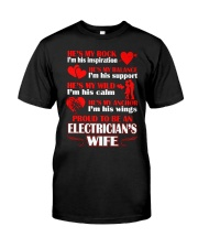 Rock Balance Anchor Proud Electricians Wife Classic T-Shirt front