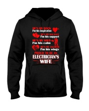 Rock Balance Anchor Proud Electricians Wife Hooded Sweatshirt thumbnail