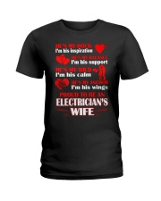 Rock Balance Anchor Proud Electricians Wife Ladies T-Shirt thumbnail