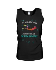 IM A SIMPLE MAN I LIKE BOOBS AND SCUBA DIVING Unisex Tank thumbnail