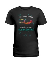 IM A SIMPLE MAN I LIKE BOOBS AND SCUBA DIVING Ladies T-Shirt thumbnail