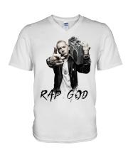 rap god V-Neck T-Shirt thumbnail