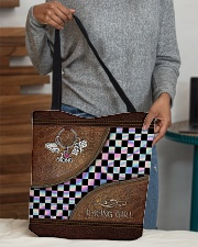 Racing Girl Leather Pattern Print filein All-over Tote aos-all-over-tote-lifestyle-front-10