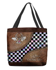 Racing Girl Leather Pattern Print filein All-over Tote back